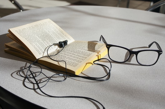 Free stock photo of school, table, glasses, book