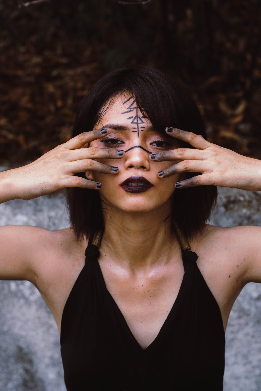 Women's Black Halter-top Close-up Photography