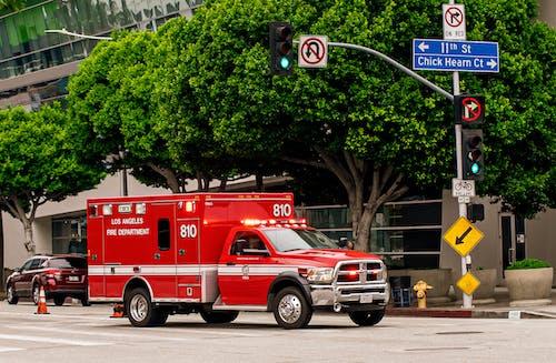 光, 消防車, 消防部门, 緊急 的 免费素材照片