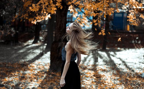 Photo of Woman During Fall