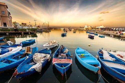 คลังภาพถ่ายฟรี ของ ชายทะเล, พาโนรามา, เรือ