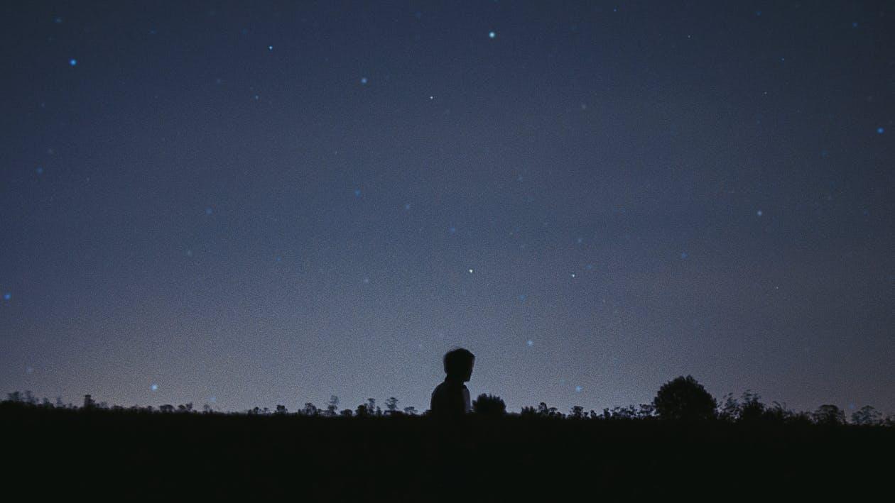 กลางคืน, กลางแจ้ง, กลุ่มดาว