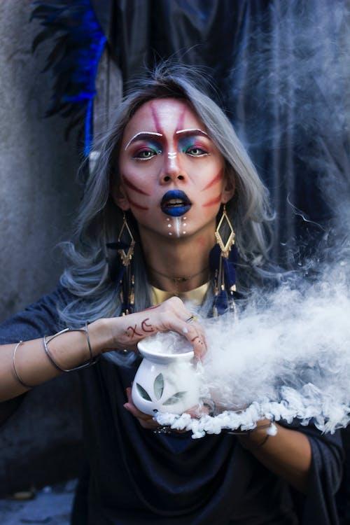 farvet røg, horoskop, konceptuel