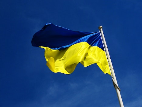 Free stock photo of flag, national, ukraine, waving flag