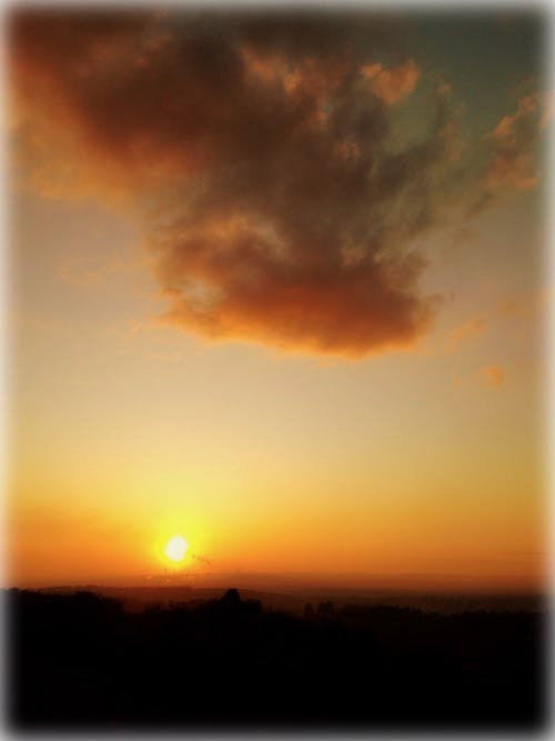 คลังภาพถ่ายฟรี ของ ท้องฟ้ายามพระอาทิตย์ตก