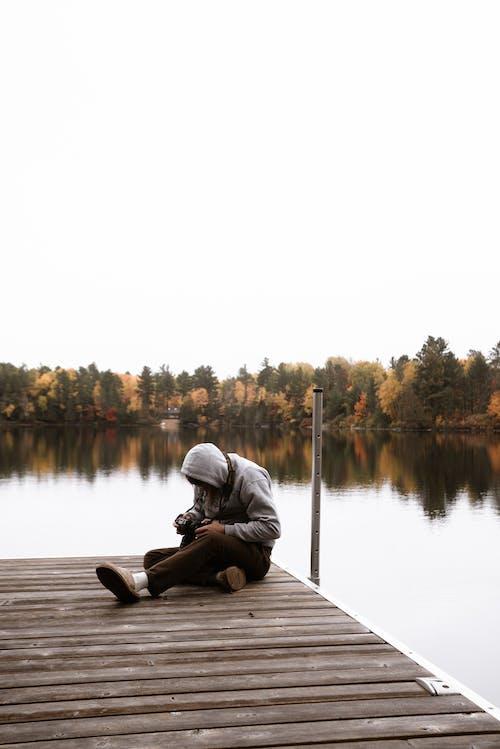 Gratis arkivbilde med alene, avslapping, bruke, brygge