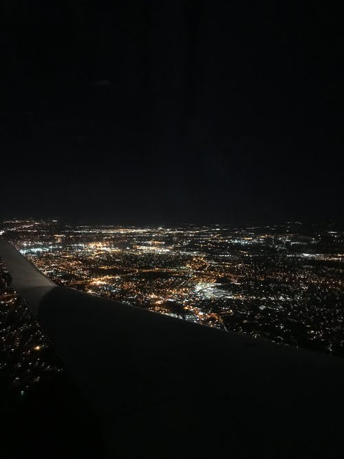 คลังภาพถ่ายฟรี ของ กลางคืน, การถ่ายภาพ, การบิน, ความสูง