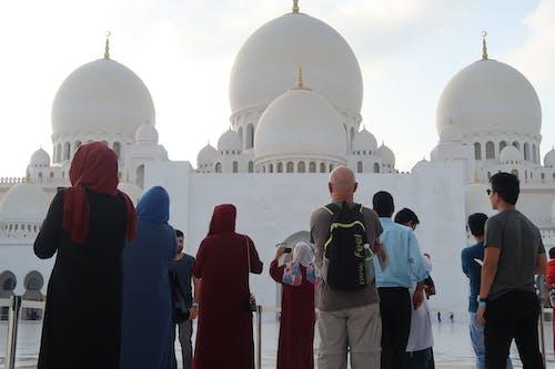 谢赫扎耶德清真寺, 阿布扎比 的 免费素材照片