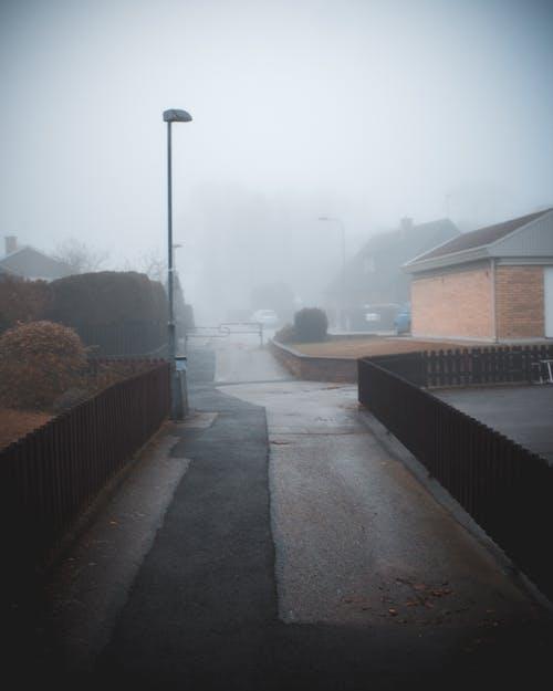 Free stock photo of empty, fog, scary