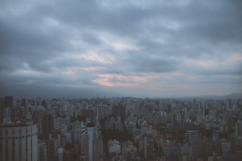 Photo of Cityscape on Gloomy Day