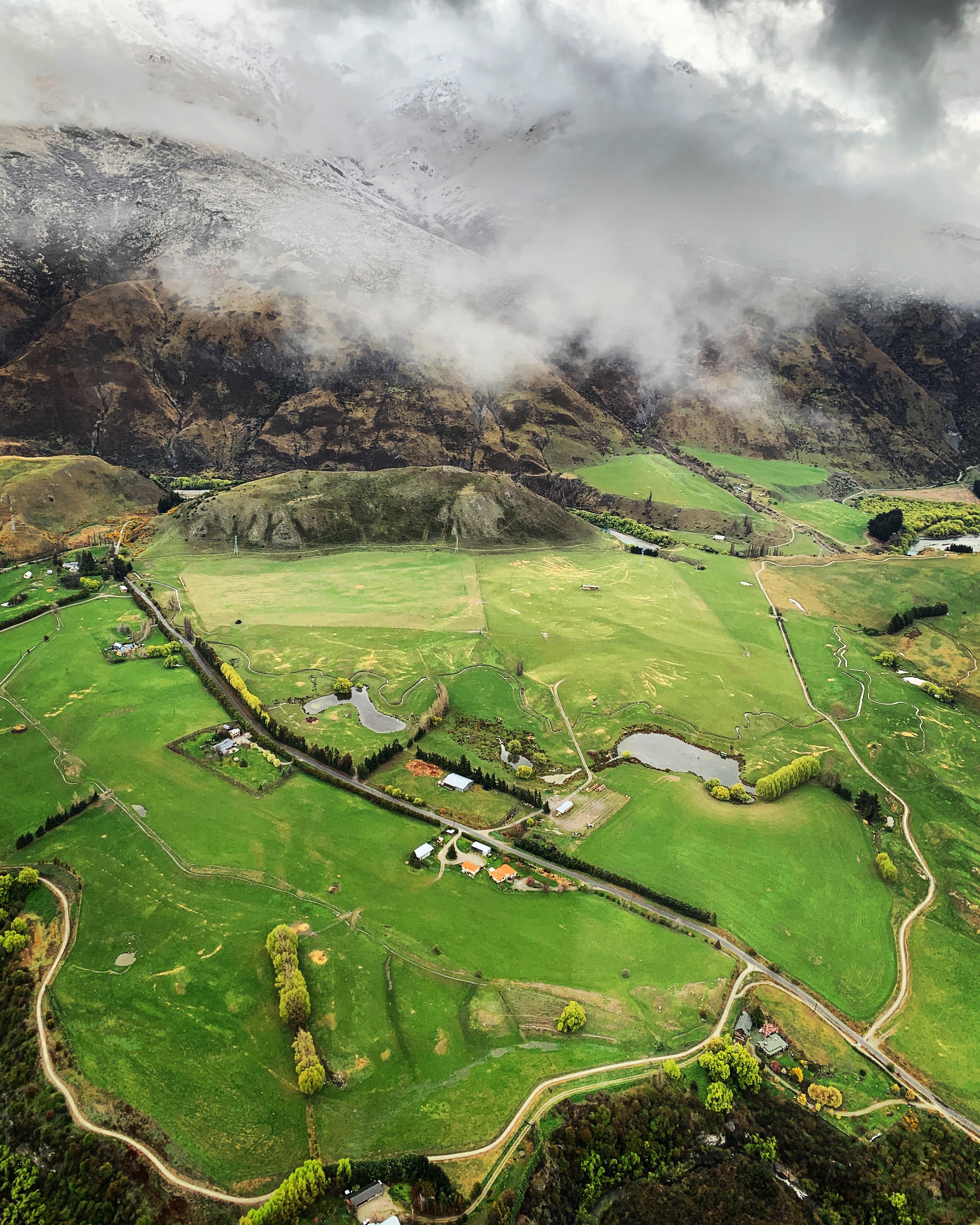 bird s eye view of cropland during daytime