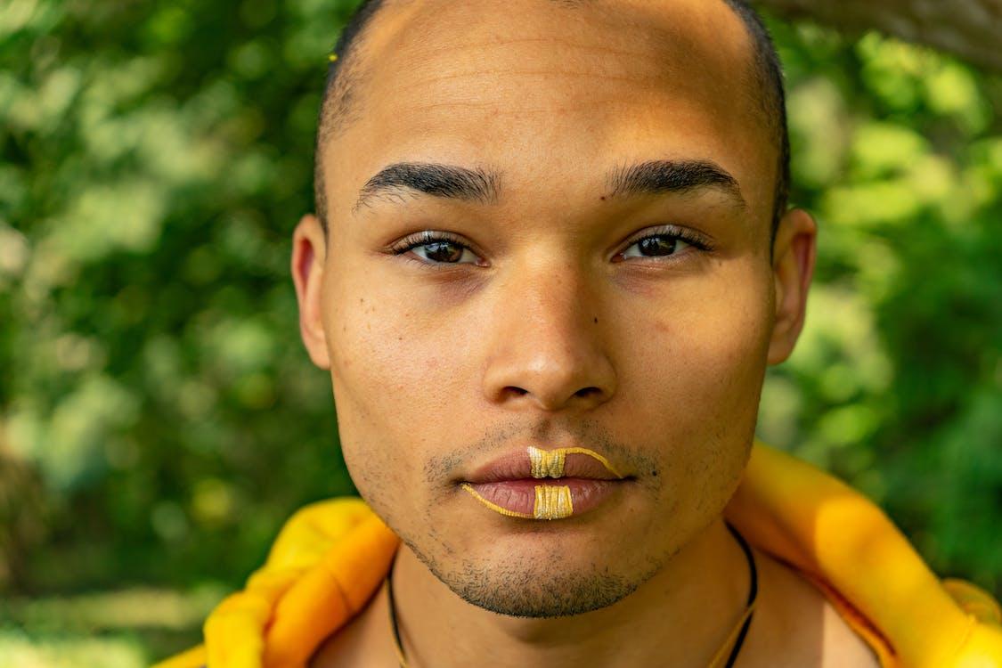 Close Up Photo of a Man's Face