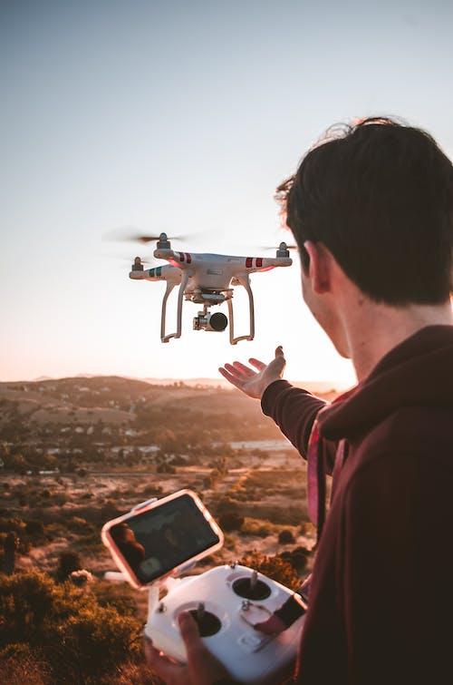 Imagine de stoc gratuită din aeronavă, aparat de fotografiat, apus, cadru foto