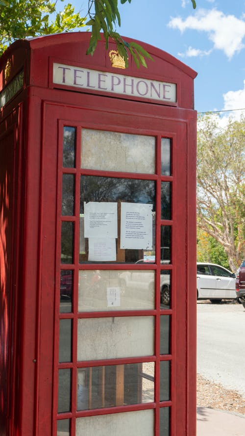 Free stock photo of british, call box, Phonebox, red