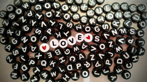Free stock photo of heart, letters, love, pearl bracelet