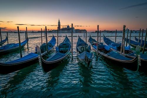 イタリア, ヴェネツィア, ウォータークラフト, ゴンドラの無料の写真素材