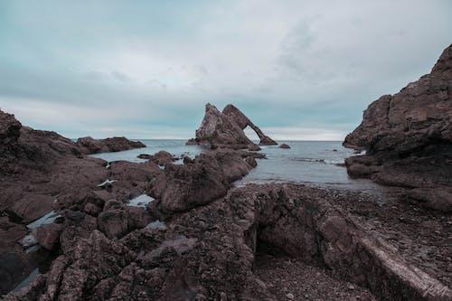 Free stock photo of bow fiddle rock, coast, ocean