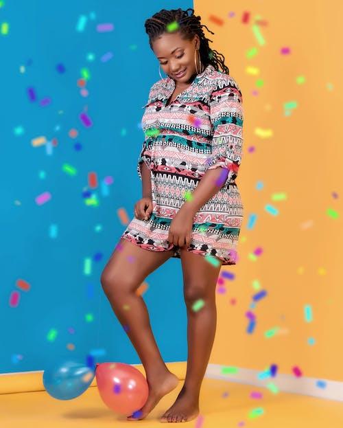 Бесплатное стоковое фото с Взрослый, воздушные шары, глубина, дреды