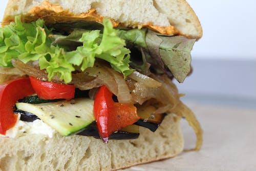 Free stock photo of sandwich, vegetarian