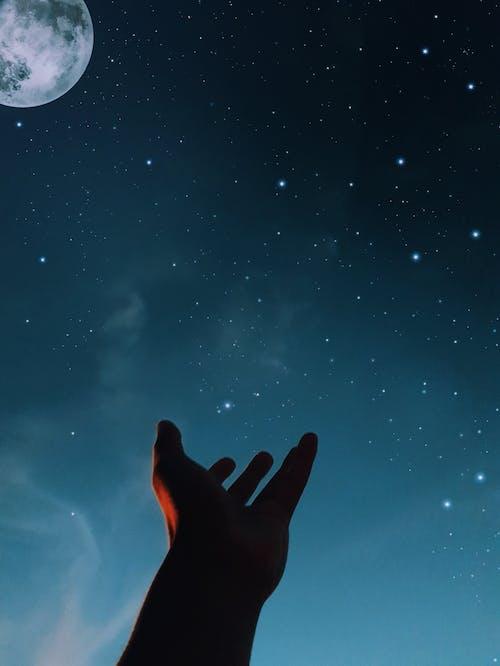 Gratis lagerfoto af aften, astronomi, blå himmel, galakse