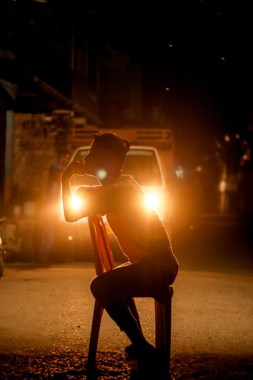 Free stock photo of backlight, bokeh, car lights, chair