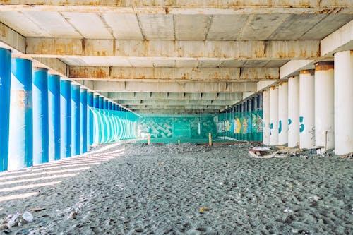beton, bina, boyalı, boyanmış içeren Ücretsiz stok fotoğraf
