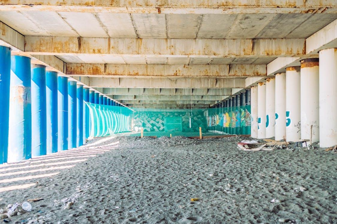 архитектура, бетон, дневной свет