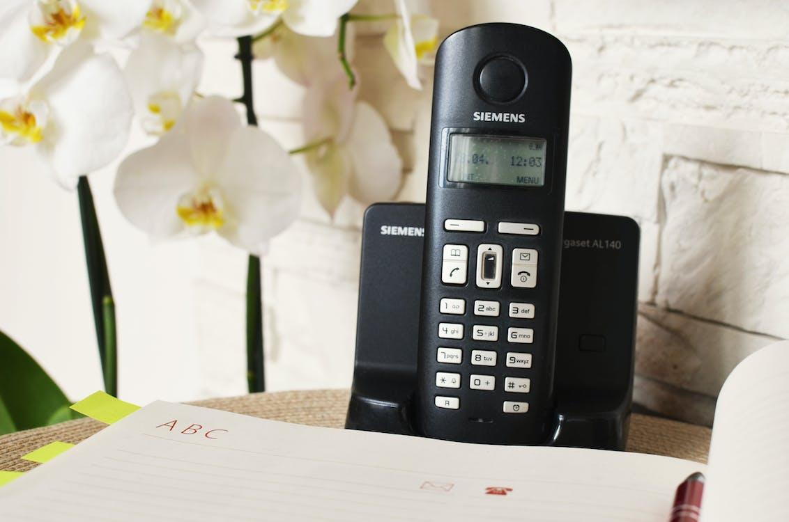 Black Siemens Cordless Home Phone
