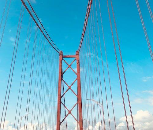 Foto d'estoc gratuïta de cel blau, Lisboa, pont 25 d'abril