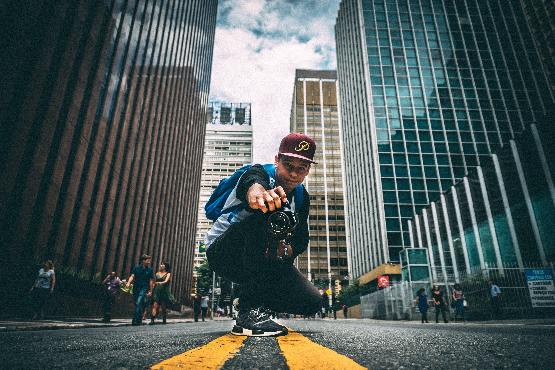 Portrait of Man on City Street