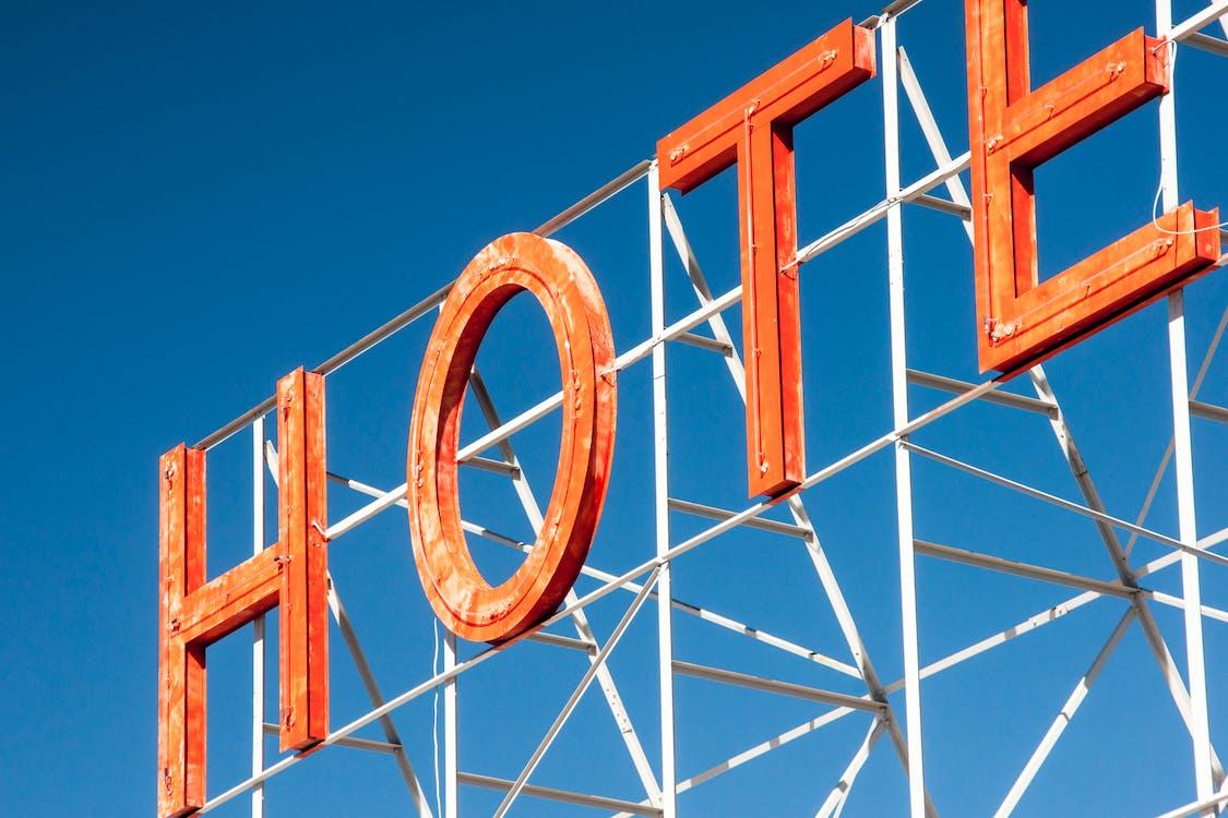 Orange Hotel Metal Lettering Signage