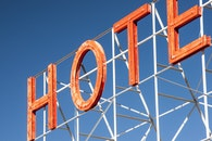 hotel, sign, neon