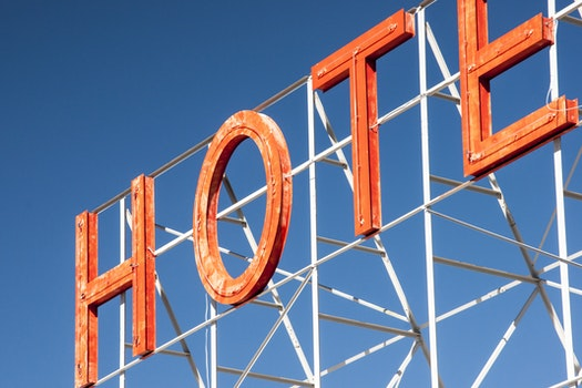 Free stock photo of hotel, sign, neon, letters