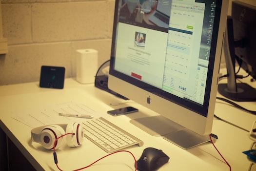 Free stock photo of creative, apple, desk, office