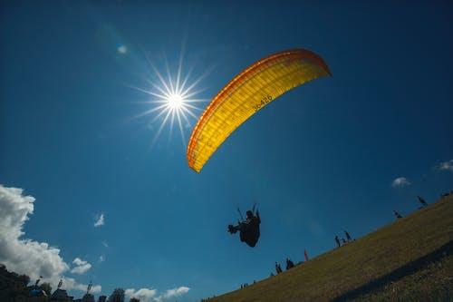 Free stock photo of paragliding, sky, sun