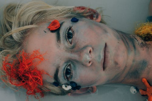 Woman With Face Paint on Her Face