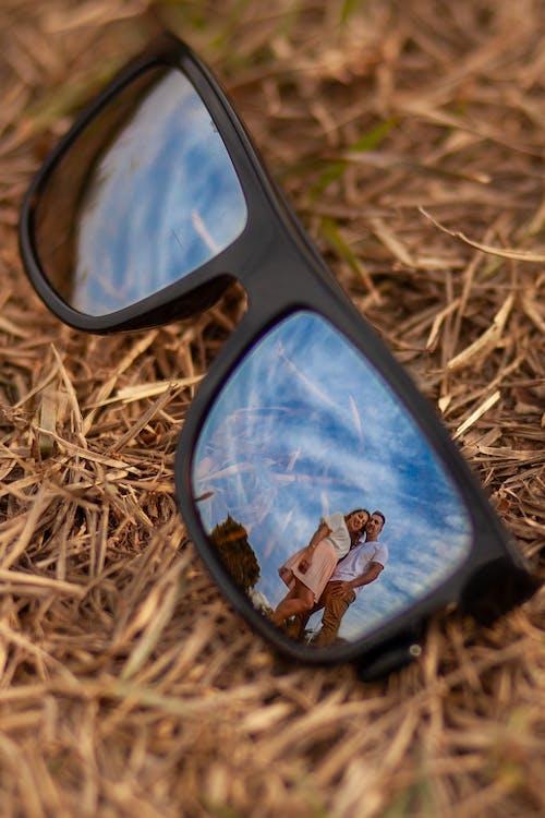 Black Framed Sunglasses Close-up Photography