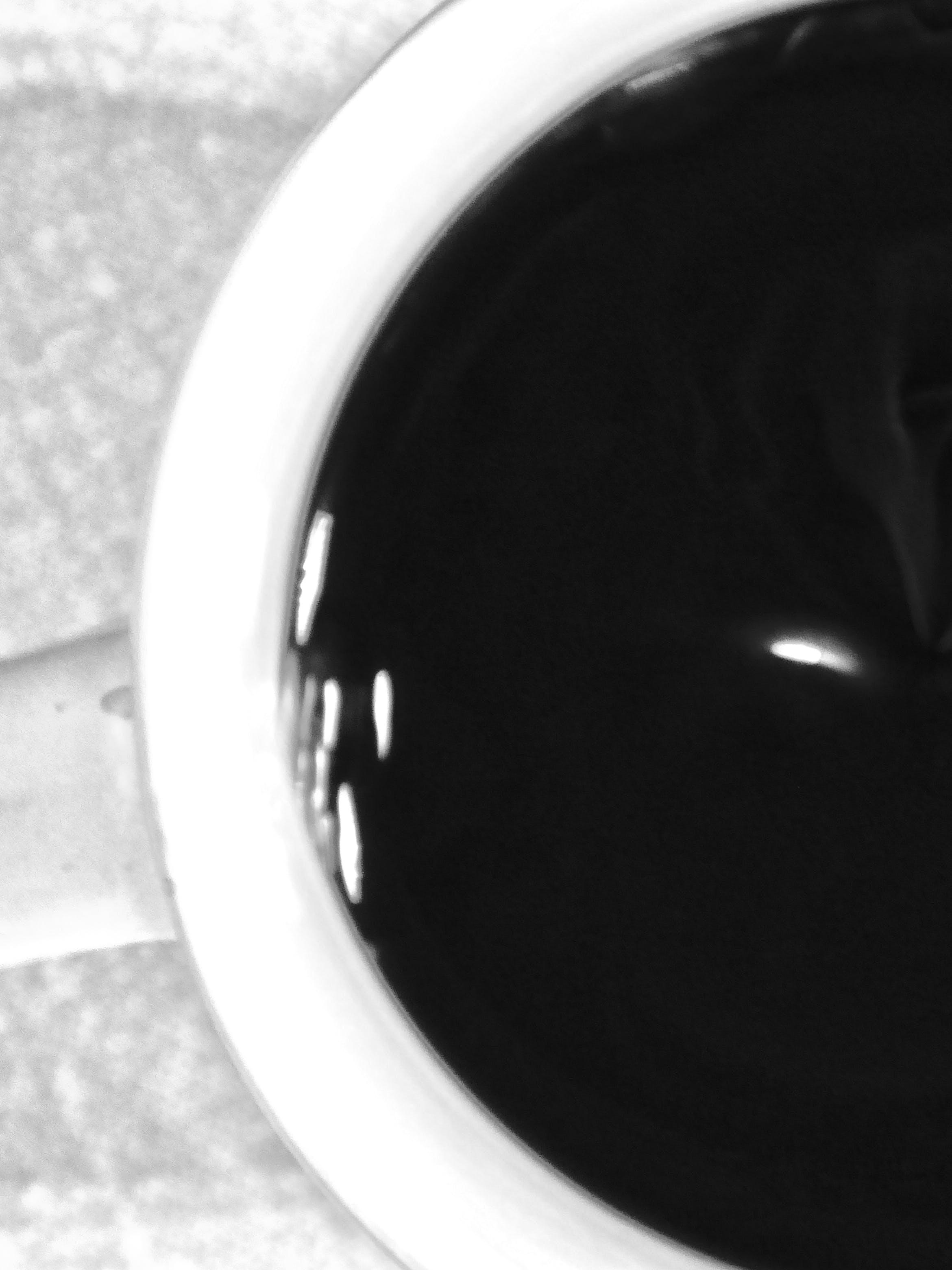 Free stock photo of black and white, black coffee