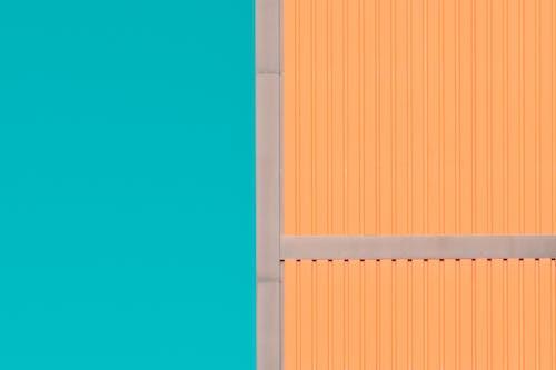 Orange and Gray Building