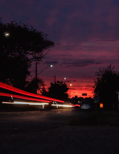 Δωρεάν στοκ φωτογραφιών με time lapse, απόγευμα, αυτοκίνηση, αυτοκίνητο