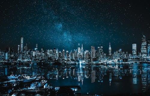 Darmowe zdjęcie z galerii z architektura, budynki, galaktyka, gwiazdy