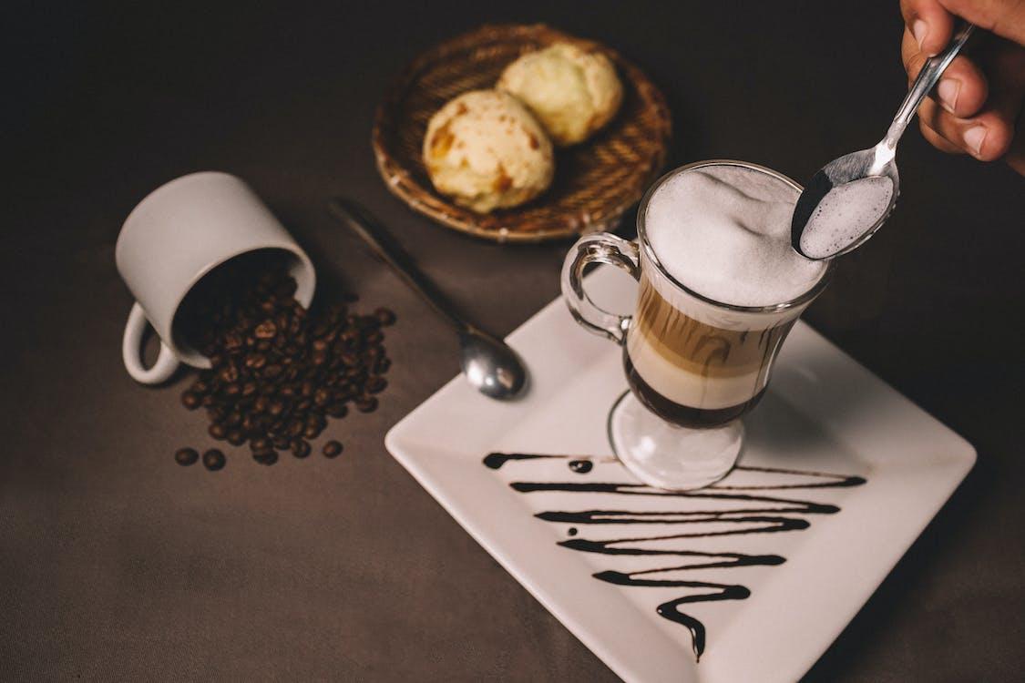 bọt, bữa ăn sáng, cà phê