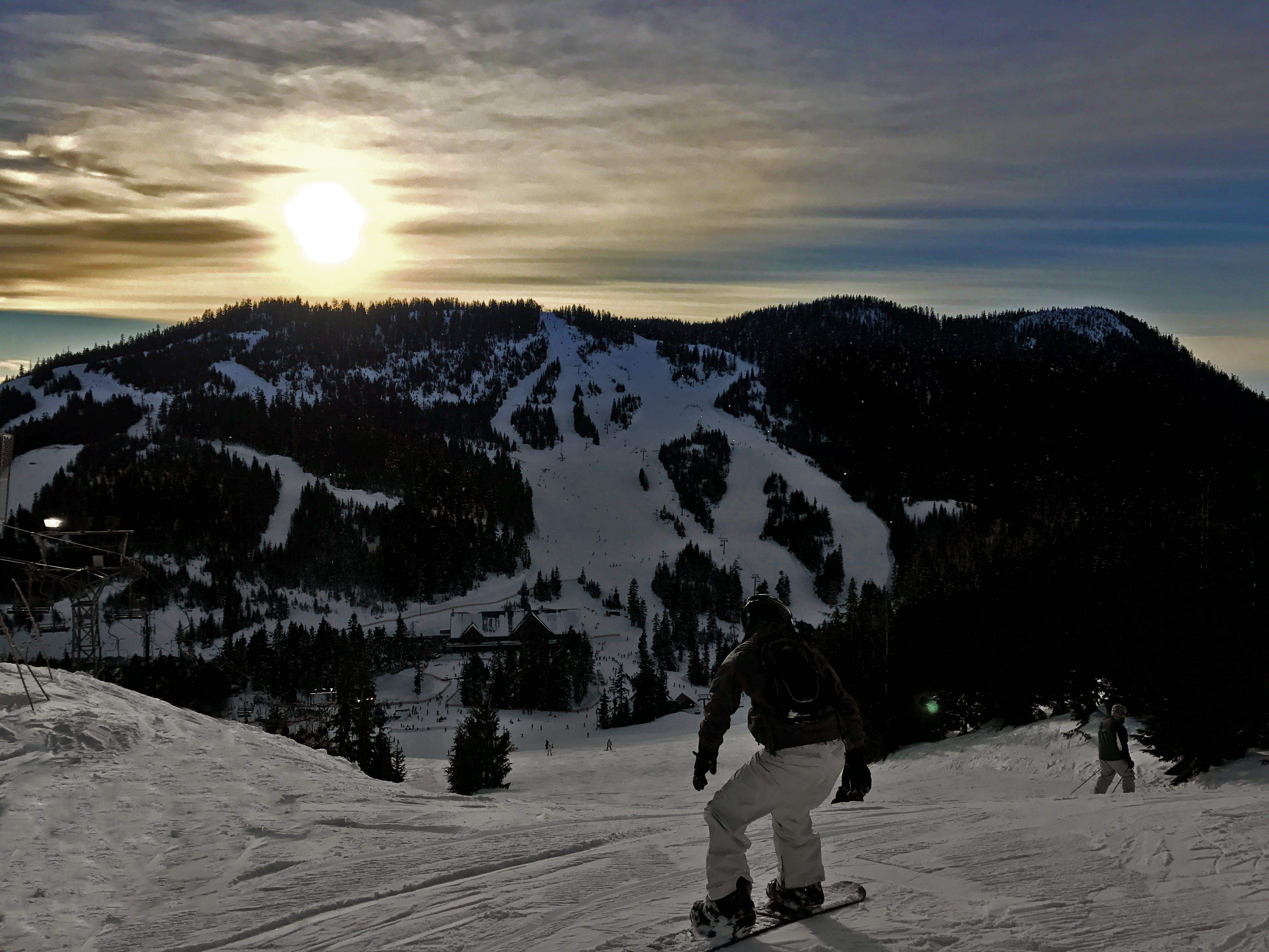 Gratis lagerfoto af bjerg, Ski, sne, snowboard