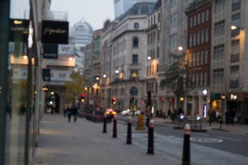 シティ, タウン, ぼやけて, ライトの無料の写真素材
