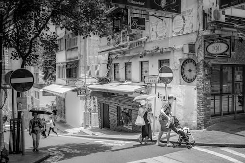คลังภาพถ่ายฟรี ของ ขาวดำ, ถนน, ถนน, ถนน