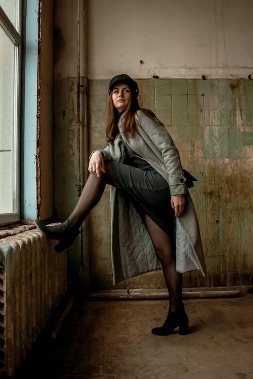 Women's Gray Long Coat