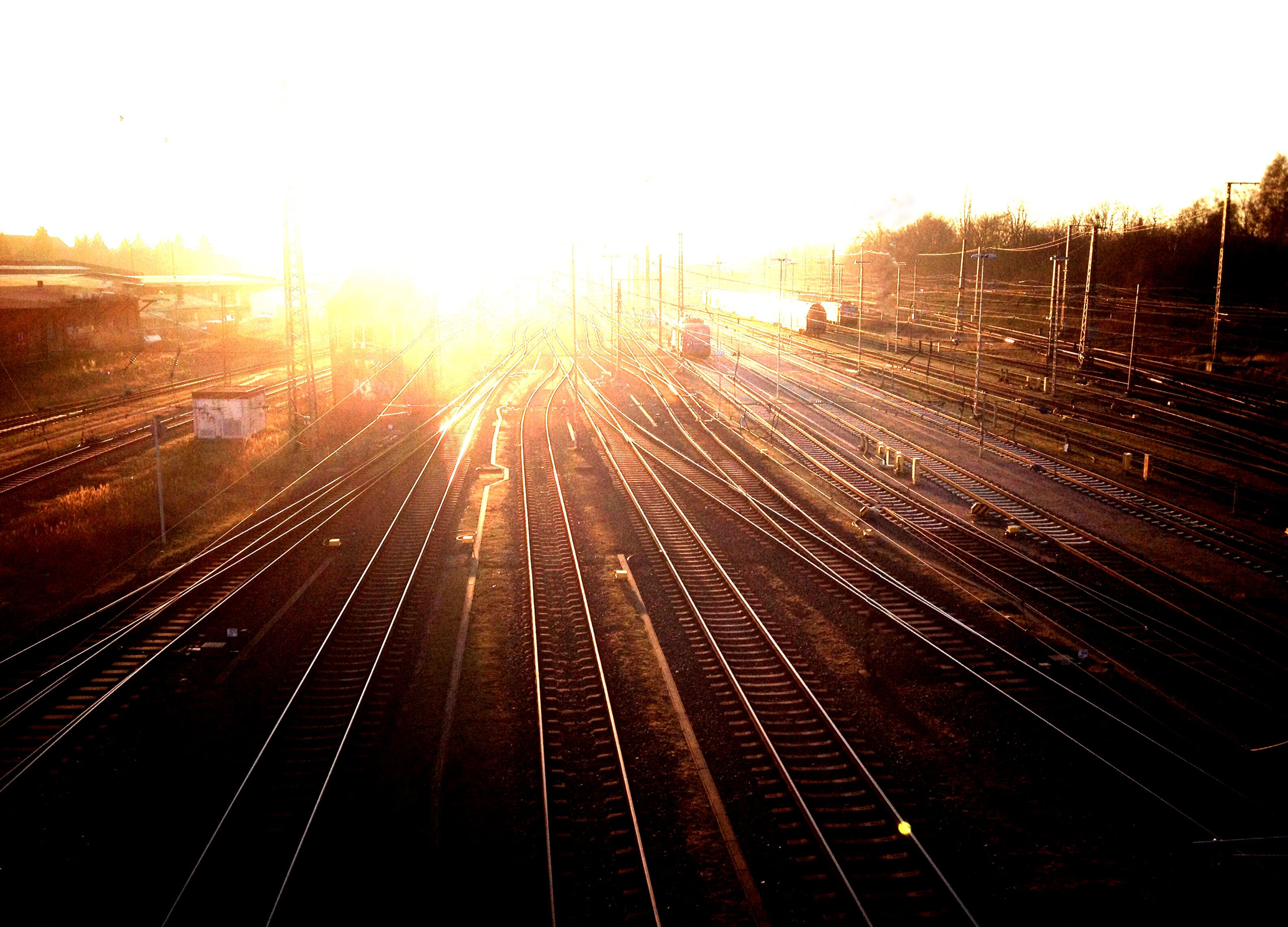 Free stock photo of luebeck, train station, train tracks