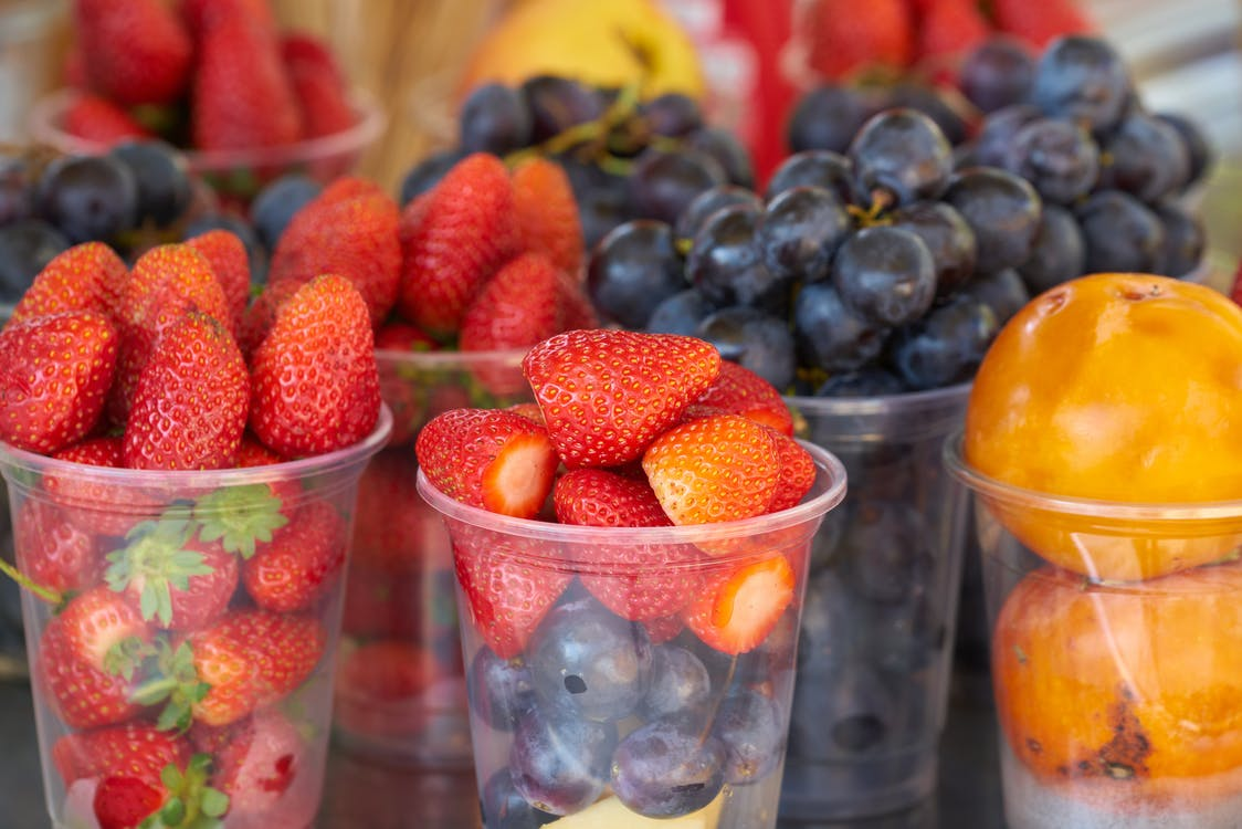Cup of Strawberries and Mixed Fruits