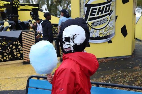 Free stock photo of amusement park, autumn, boy, candy