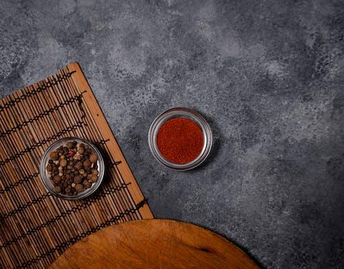 Ilmainen kuvapankkikuva tunnisteilla chilipippuri, flat lay, mausteet, paprika